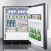 Image of Summit FF6BBI7SSHVADA Automatic Defrost Built-In Undercounter