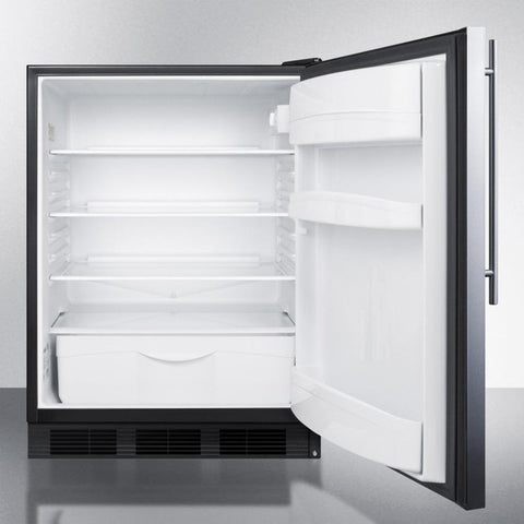 Summit FF6BBI7SSHVADA Automatic Defrost Built-In Undercounter