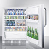 Image of Summit FF6LBI7SSTBADA Automatic Defrost Built-In Undercounter