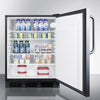Image of Summit AL752LBLCSS Automatic Defrost Built-In Undercounter