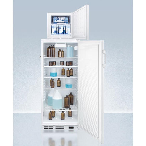 Summit FFAR10-FS24LSTACKPRO Slim-fitting Footprint Refrigerator-freezer Combinations