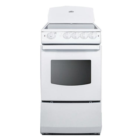 Summit REX205W Full Cooking Convenience Electric Range
