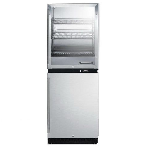 Summit RFBW64 Upper Warming Cabinet And Lower All-Refrigerator
