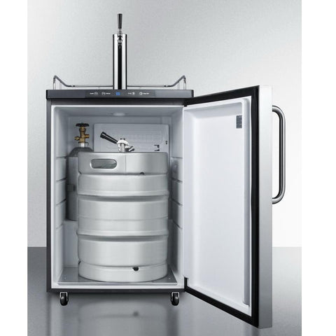 Smmit SBC635M7SSTB Automatic Defrost Full-sized Beer Dispenser