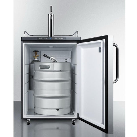 Summit SBC635MBI7SSTB Automatic Defrost Full-sized Beer Dispenser