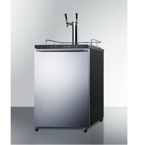 Summit SBC635MBISSHHTWIN Automatic Defrost Full-sized Beer Dispenser