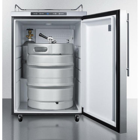 Summit SBC635MOS7NKHV Automatic Defrost Full=sized Beer Dispenser
