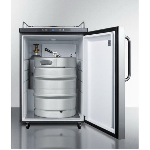 Summit SBC635MNKSSTB Automatic Defrost Full-sized Beer Dispenser