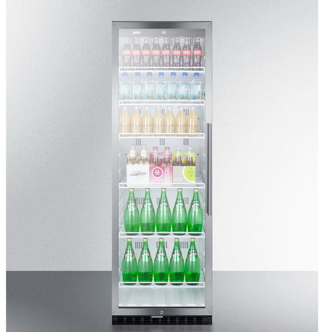 Summit SCR1400WLHCSS Slim-fitting Footprint Beverage Refrigerator