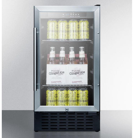 Summit SCR1841BCSSADA User-friendly Convenience Beverage Refrigerator