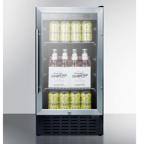Summit SCR1841BCSS User-friendly Convenience Beverage Refrigerator