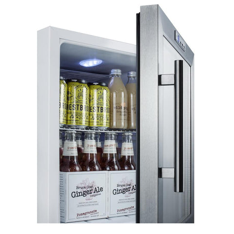 Summit SCR215LCSS Convenience and User-friendly Beverage Refrigerator
