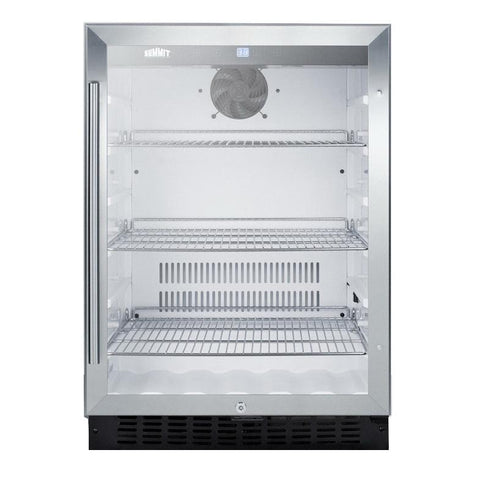 Summit SCR2464 Versatile Built-in Undercounter Refrigerator