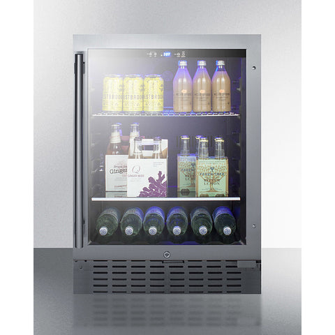 "Summit 24"" Wide Built-In Beverage Cooler SCR2466B"