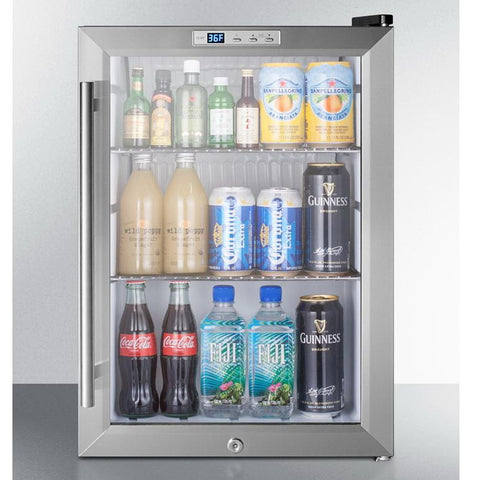 Summit SCR312LCSS Convenient and Heat Safe Beverage Refrigerator