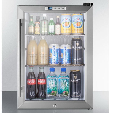 Summit SCR312LBICSS Slim-fitting Refrigerator