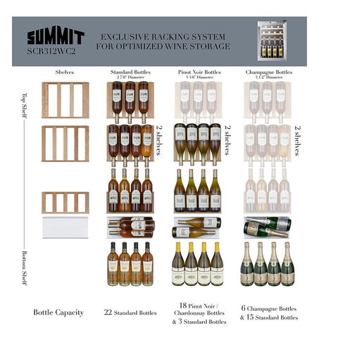 Summit SCR312LBICSSWC2 Elegant Construction Wine Cellar