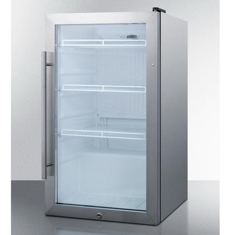 Summit SCR489OSCSS Automatic Defrost Refrigerator and Beverage Cooler