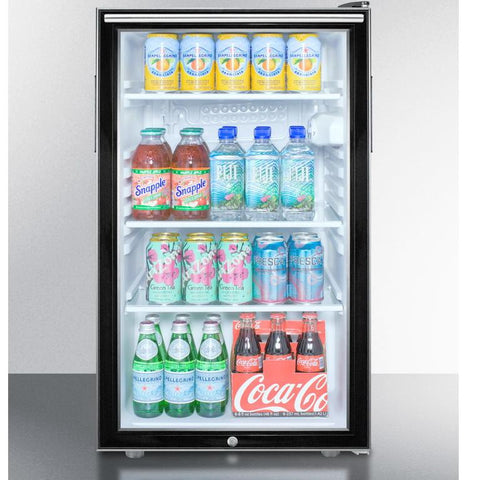 Summit SCR500BL7HHADA Easy-fitting ADA Compliant Beverage Refrigerator