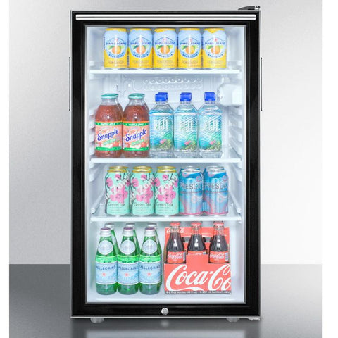 Summit SCR500BLBI7HHADA Flexible Design Beverage Refrigerator