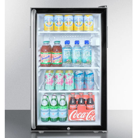 Summit SCR500BLBI7SH Flexible Design Beverage Refrigerator