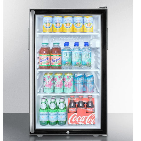 Summit SCR500BL7SHADA Easy-fitting ADA Compliant Beverage Refrigerator