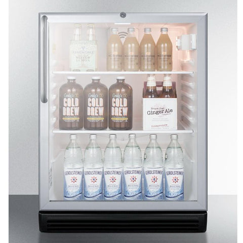 Summit SCR600BGLTBADA Slim Footprint Beverage Refrigerator