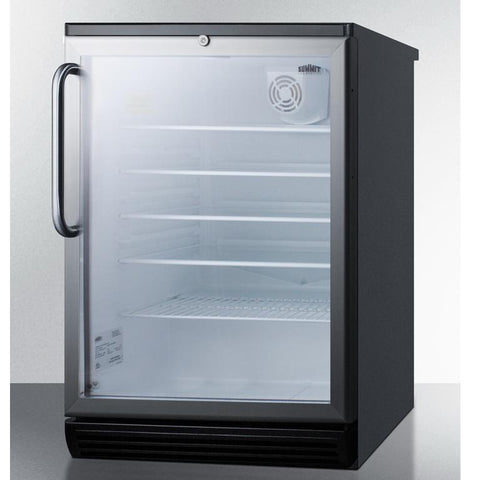 Summit SCR600BGLTB Conveniently Sized Beverage Refrigerator