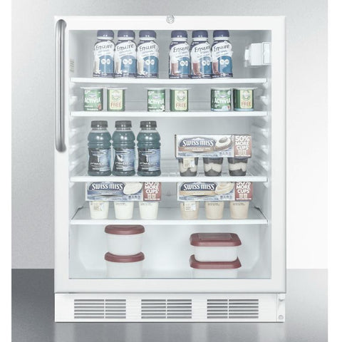 Summit SCR600LTBADA Conveniently Slim Footprint Beverage Refrigerator