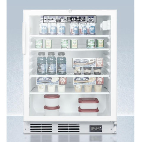 Summit SCR600LBINZADA Automatic Defrost Built-In Undercounter