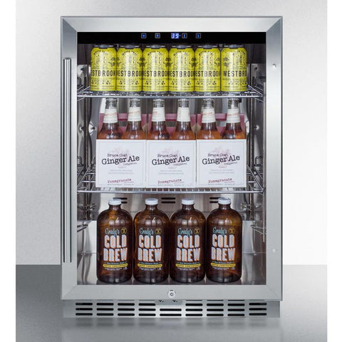 Summit SCR611GLOS Flexible and Convenient Beverage Storage Refrigerator