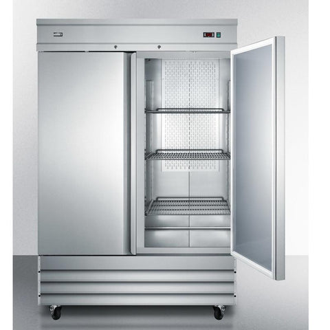 Summit SCRR491 Two Self-closing Doors Refrigerator