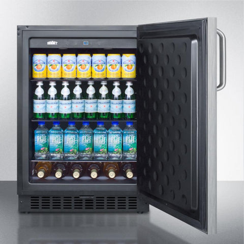 Summit SPR627OSSSTB Energy Star Certified Refrigerator and Beverage Cooler