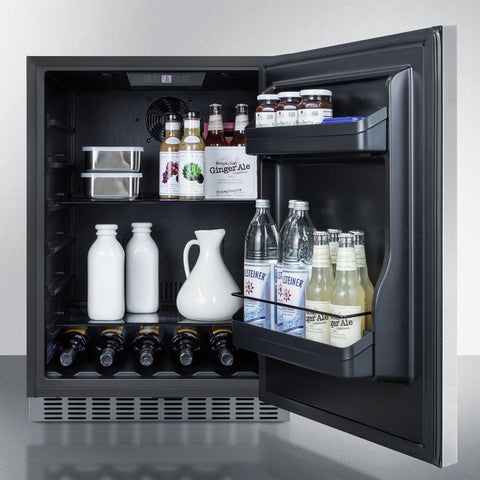 Summit CL67ROSB Flexible Design Refrigerator and Beverage Cooler