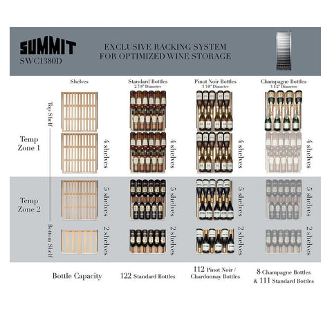 Summit SWC1380D User-friendly and Professional Design Wine Cellar