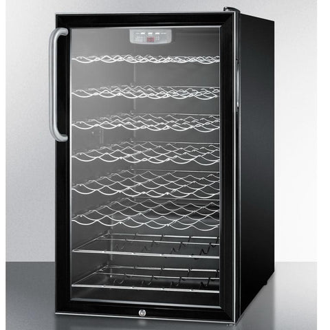 Summit SWC525LBITBADA Slim-fitting Footprint Wine Cellar