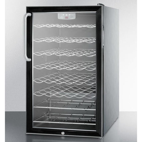 Summit SWC525L7CSS Slim-fitting Footprint Wine Cellar