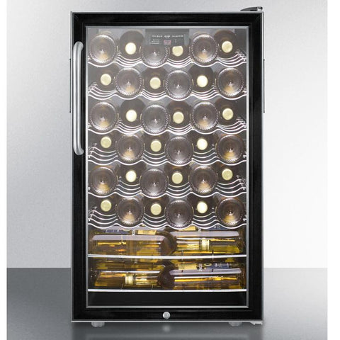 Summit SWC525LCSSADA  Slim-fitting Footprint Wine Cellar
