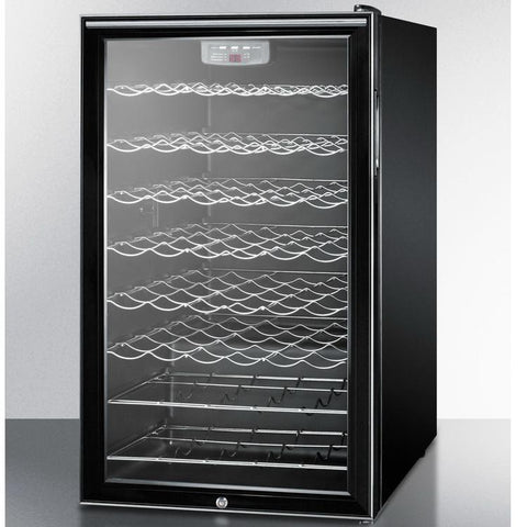 Summit SWC525LBI7HHADA Slim-fitting Footprint Wine Cellar