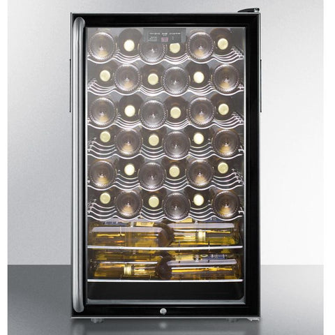 Summit SWC525LSHADA Slim-fitting Footprint Wine Cellar
