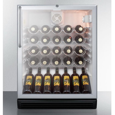 Summit SWC6GBLCSSADA Modern Elegance with Solid Durability Wine Cellar