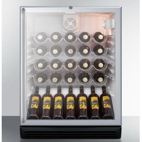 Summit SWC6GBLSHADA Safe Storage with Elegant Display Wine Cellar