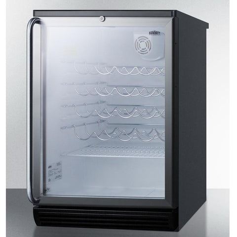 Summit SWC6GBLBISH Safe Storage with Elegant Display Wine Cellar