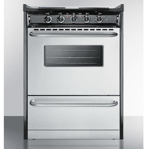 Summit TEM610BRWY Professional Look Electric Range