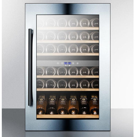 Summit VC60D Stunning Look and Versatile Design Wine Cellar