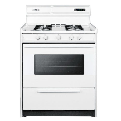 Summit WNM2307KW High Quality Construction Gas Range