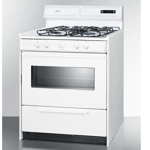 Summit WTM2307KSW Long Lasting Durability Gas Range