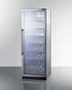 "Image of Summit SCR1401CHCSS 24"" Wide Single Zone Commercial Wine Cellar"