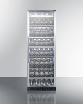 "Summit SCR1401CHCSS 24"" Wide Single Zone Commercial Wine Cellar"