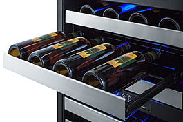 "Summit SWC532BLBISTCSS 24"" Wide Built-In Wine Cellar"